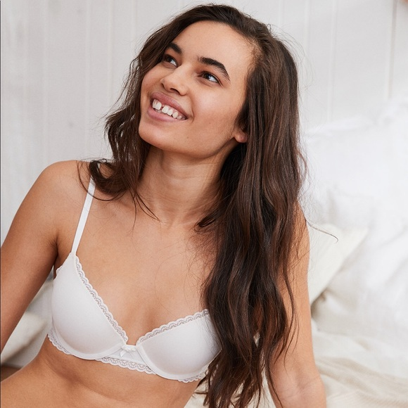 6fb41dbfe923a aerie Other - Aerie White Brooke Mesh Pushup Bra